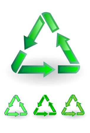 office cleanup: The recycle symbol. A vector. Without mesh. Illustration