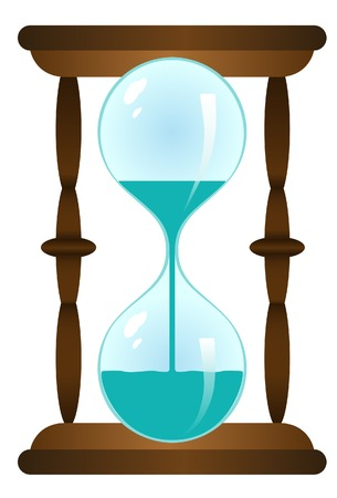 Sand-glass with water. Vector. Without mesh.