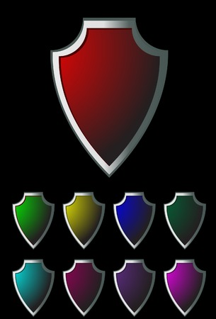 Protection icons. A vector. Without mesh. Stock Vector - 4973560