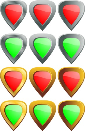 Protection icons. A vector. Without mesh. Vector