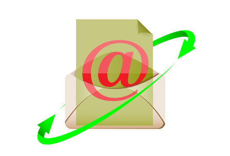 The e-mail symbol. A vector. Without mesh.