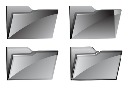 set of folder icons. A vector. Without mesh.