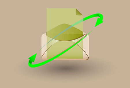 The Opened letter. A vector. Without mesh.