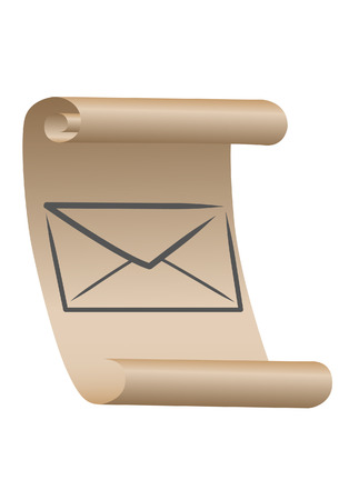 The Mail Icon. A vector. Without mesh.