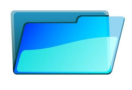 Transparent folder. A vector. Without mesh. Иллюстрация