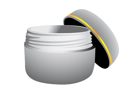 Container with a cream. A vector. Without mesh.