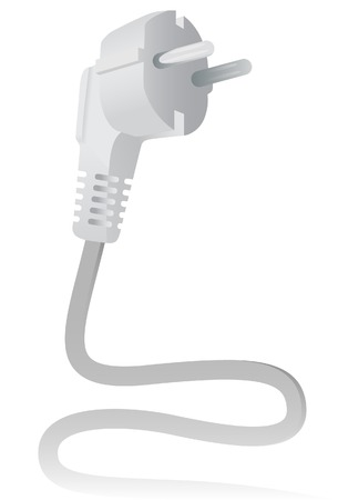 The Electric plug. A vector. Without mesh. Vector