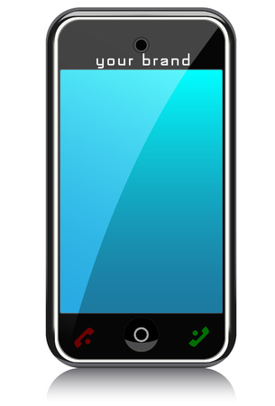 The smart phone. A vector. Without mesh. Иллюстрация