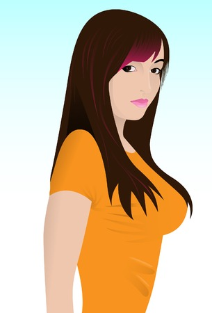 ceremonial makeup: The beautiful girl. A vector. Without mesh.