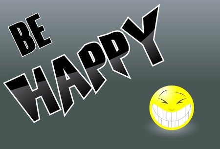 The happy background. A vector. Without mesh. Иллюстрация