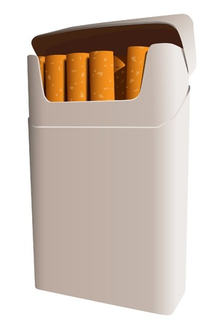 Pack of cigarettes. A vector. Without mesh.