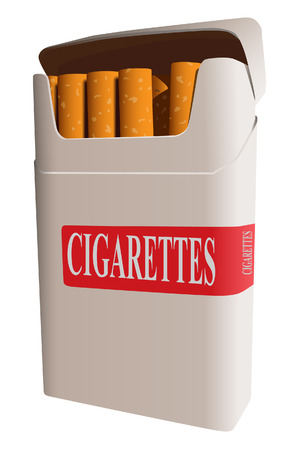Pack of cigarettes. A vector. Without mesh. Vector
