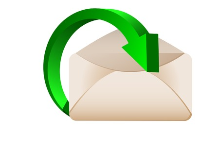 The Incoming letter. A vector. Without mesh. Vector