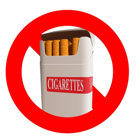 The no smoking. A vector. Without mesh.