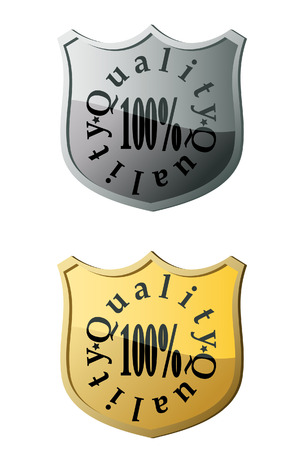 The Quality shield. A vector. Without mesh. Иллюстрация