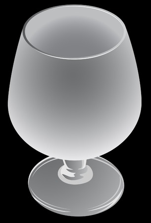 barware: The wine glass. A vector. Without mesh. Illustration