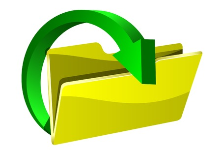 The arrow and folder. A vector. Without mesh.