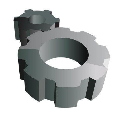 The Gear wheels. A vector. Without mesh.