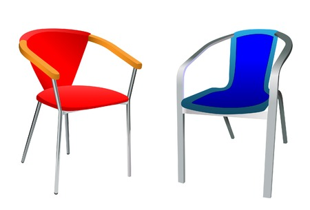 Two chairs, Without mesh. Stock Vector - 5860418
