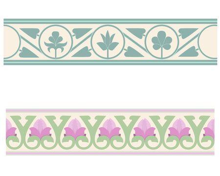 Byzantine pattern , floral ornament in Euroean style