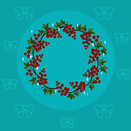 Christmas and New Year Tree Borders, Isolated On White Background, Vector Illustration