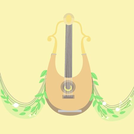Musical instrument. Vector isolated objects Illustration