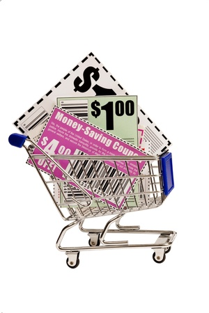 Coupons In Shopping Cart XXXL Banco de Imagens