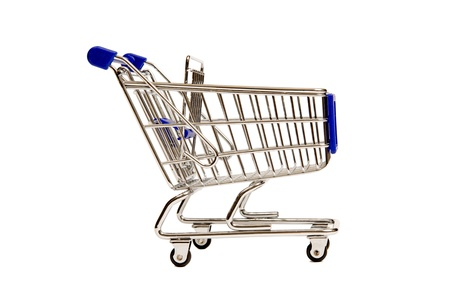 A Side View of a Miniature Shopping Cart. XXXL Stock Photo - 17354822