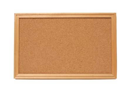 An empty cork bulletin or message board with frame Stock Photo - 17598229