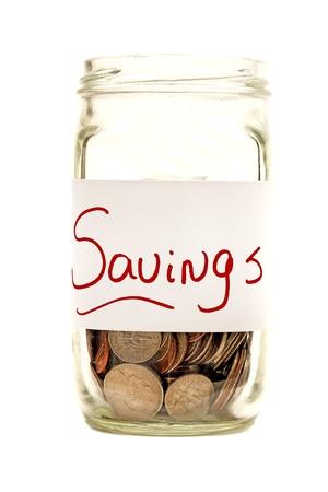 xxxl: Savings Jar XXXL Isolated On White Stock Photo