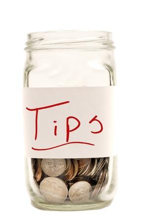 Tips Jar XXXL Isolated On White Stock Photo - 17926491