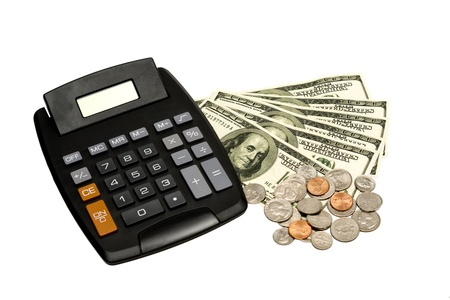 Calculator With Money XXXL Stock Photo - 18135428