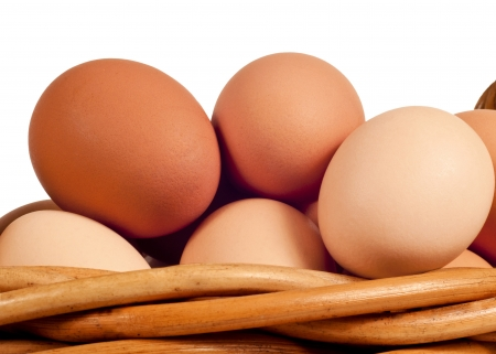 Farm Fresh Brown Eggs Stok Fotoğraf