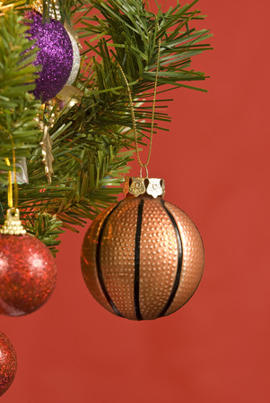 Basketball Christmas Tree Ornament