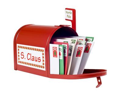 サンタ クロースがクリスマスの手紙を受け取る