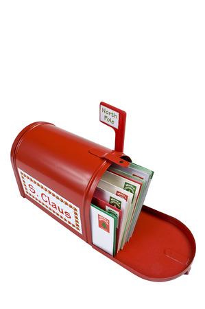A Mailbox Full of Mail For Santa Claus 版權商用圖片
