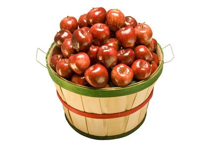 bushel: Apples Filling Bushel Basket