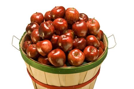 bushel: Bushel Basket Filled With Apples