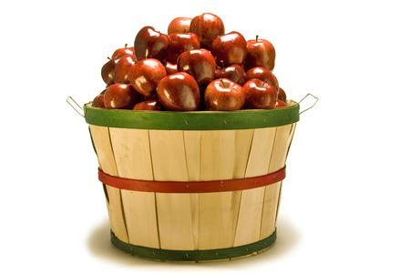 bushel: Bushel Basket of Apples Stock Photo