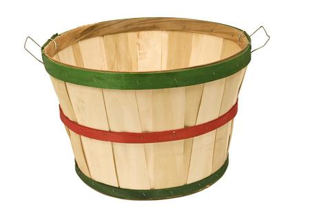 bushel: Empty Bushel Basket Isolated on White