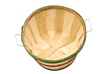 bushel: Empty Wooden Bushel Basket