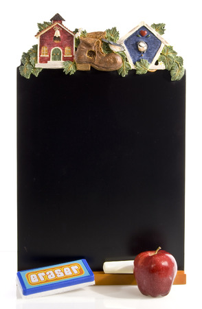 schoolhouse: Decorative Schoolhouse Chalk Board Stock Photo