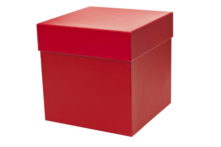 Closed Red Gift Box