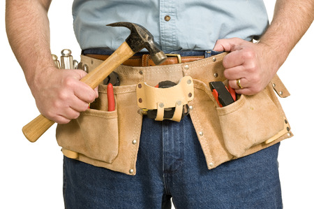 toolbelt: Construction Worker With Toolbelt