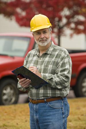 job site: Construction Foreman On Job Site
