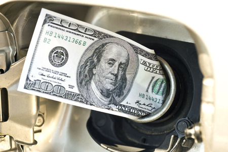 to fill up: Another Expensive Fill Up- Hundred Dollar Bill In Gas Tank