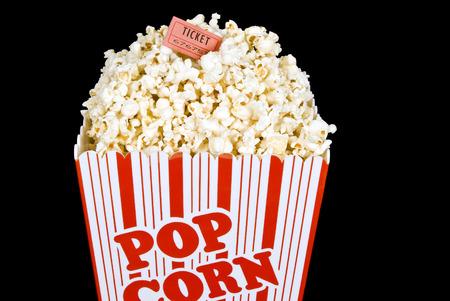 Big Ol' Bucket Of Fresh Popped Popcorn Stock Photo - 33758696
