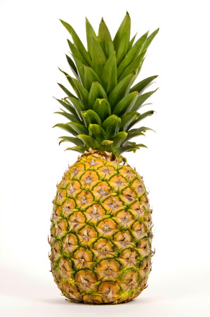 citrous: Pineapple Isolated On White