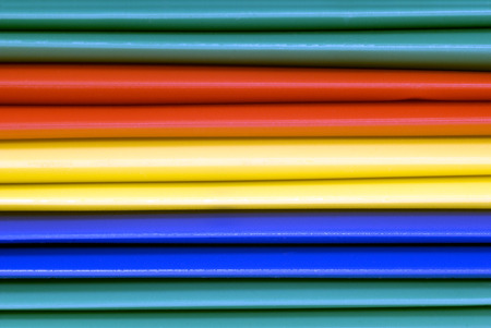 Close Up Shot Of Multicolored File Folders As Background photo