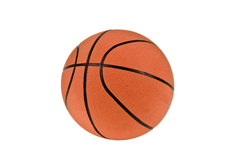 basketballs: Basketball Isolated On White Background Stock Photo